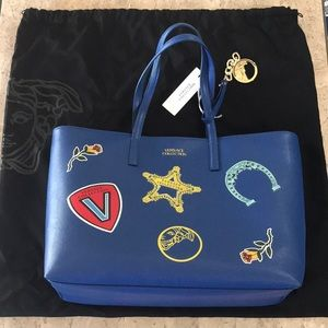 NWT Versace blue large tote bag